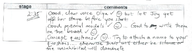 CELTA feedback by Simon Brown (British Study Centres Oxford)