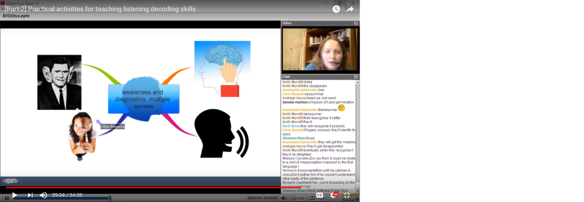 Practical activities for teaching listening decoding skills - a webinar recording